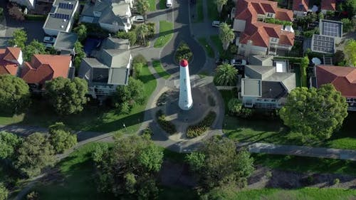 Port Melbourne an Affluent Seaside Suburb in Australia with Lighthouse Beacons