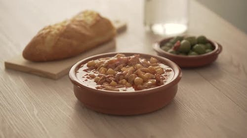 spanish callos, a typical stew with pork or beef tripe
