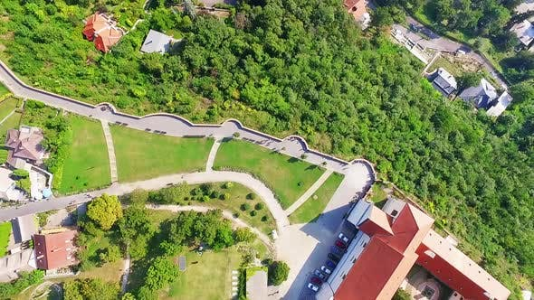 Thumbnail for Benedictine Monastery ,Tihany, Aerial view in Hungary
