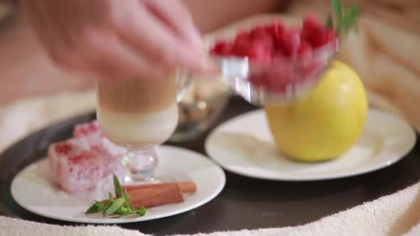 Thumbnail for Layered Rhubarb and Quark Dessert