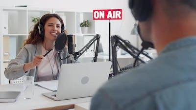 Podcast Recording in Broadcast Studio