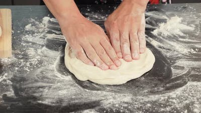 Cooking italian pizza