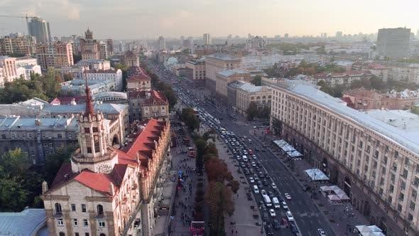 Thumbnail for Fly Over Khreshchatyk the Capital of Ukraine