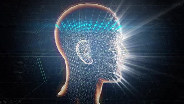 AI 3D Biometrische Face Id Scan-Technologie Nahtlose Schleife