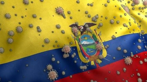 Covid Ecuador Flag / Corona Ecuador Flag