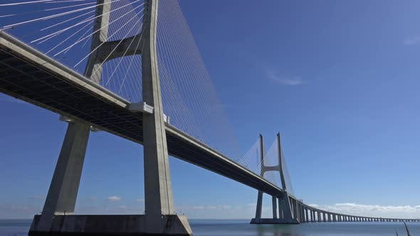 Thumbnail for Vasco Da Gama Bridge in Lisbon, Portugal, Panorama