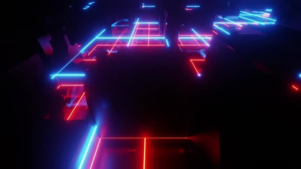 Abstract Neon City