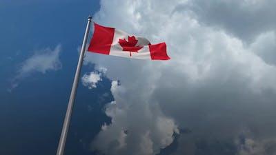 Canada Flag Waving 4K