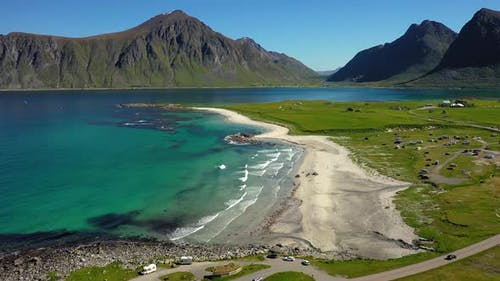 Beach Lofoten Islands Is an Archipelago in the County of Nordland, Norway.