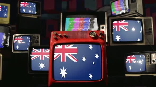 Thumbnail for Flags of Australia and Vintage Televisions.