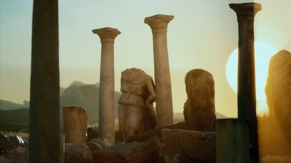 Thumbnail for Old Roman Temple Ruins at Sunset