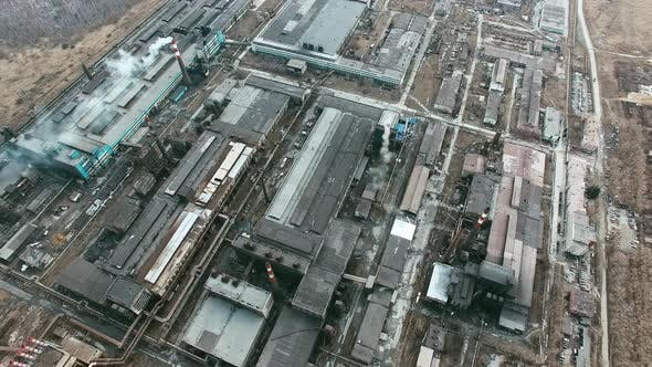 Large Factory Emitting Smoke