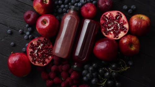 Mix of Fresh Red and Black Fruits
