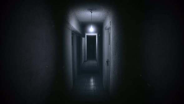 Thumbnail for Mystical horror background with dark hall of room
