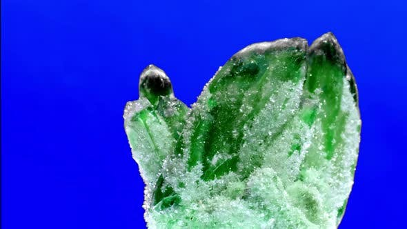 Thumbnail for Raw Emerald and Gemstone Rough Rock Crystal on Blue Background