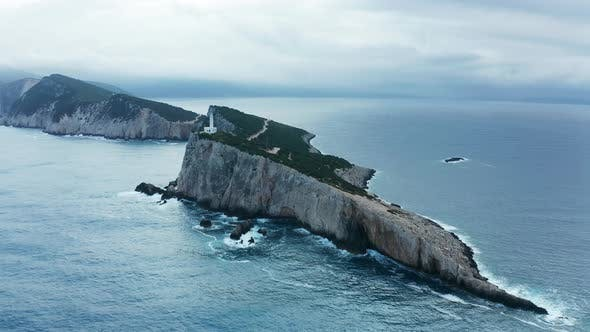 Thumbnail for Aerial View of Cape of Ducato in Lefkada Island- Greece
