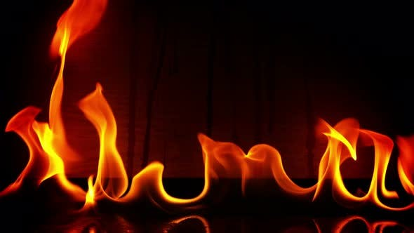 Thumbnail for Fire Burning And Wooden Background 8