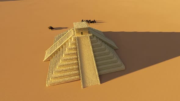 Cover Image for Egpyt Desert Pyramids And Tourist People