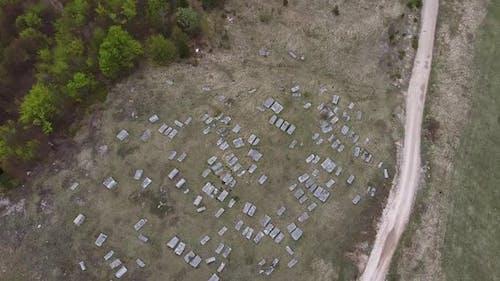Stecak Medieval Tombstone Aerial V3