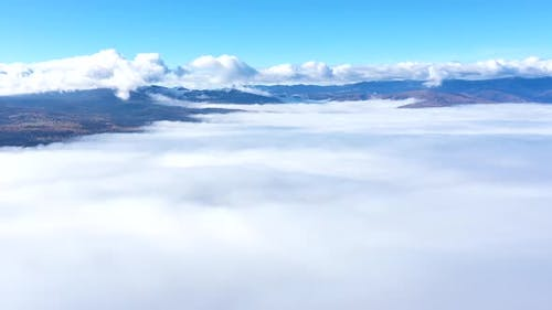 Aerial Hyperlapse Above of Clouds