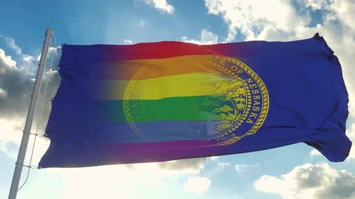Flag of Nebraska and LGBT