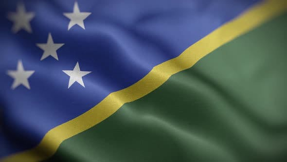 Solomon Islands Flag Textured Waving Front Background HD