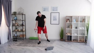 Enjoying Fitness Home Male Sport Healthy Lifestyle