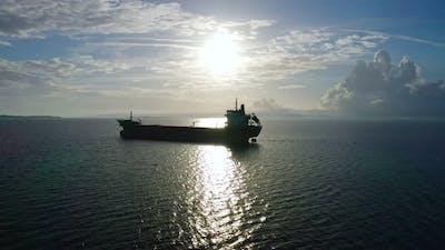 Cargo Ship Aerial