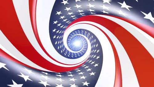 USA Tunnel Flag Background