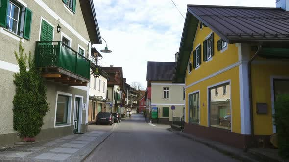 Empty Streets Of Small Austrian Mountain Town 2