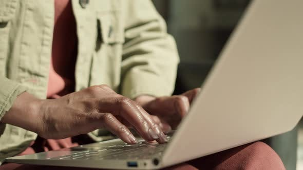 Thumbnail for Unrecognizable Woman Typing on Keyboard