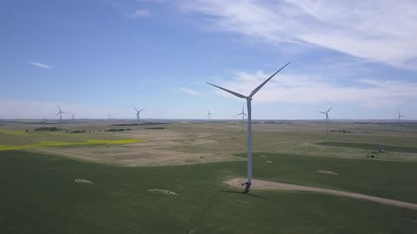 Thumbnail for Summer Wind Turbines Power Renewable Electricity Windmill Wind Farm