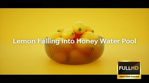 Zitrone fällt in Honig-Wasser-Pool