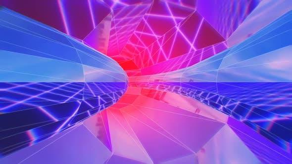 Mirror futuristic tunnel