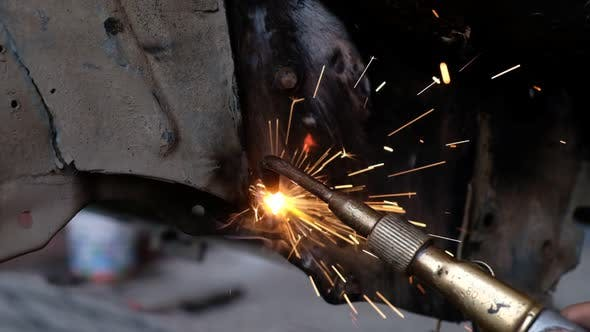 Thumbnail for Macro Shot of Welding in Slow Motion