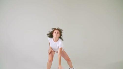 Girl in Short Shorts Dancing