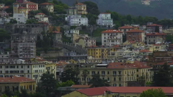Thumbnail for Panoramic View of Beautiful Old and Modern Buildings in La Spezia City in Italy