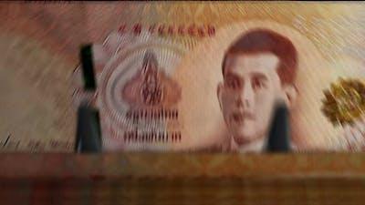 Thai Baht money counting machine down