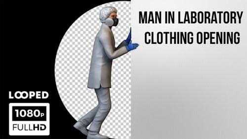 3D Man In Laboratory Clothing Opening - 2 Pack