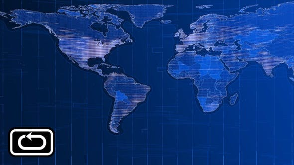 Cover Image for News World Map Front Bg Loop V1