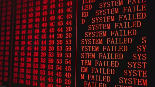 Program Error SYSTEM FAILED Red Text on PC Screen