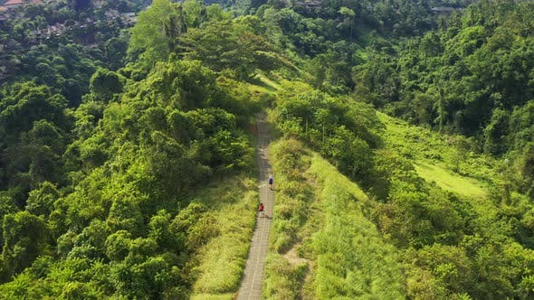 Thumbnail for Aerial View of Campuhan Ridge Walk , Scenic Green Hill in Ubud, Bali, Indonesia