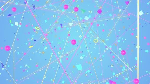 Thumbnail for Geometric Retro 90s 05 4K