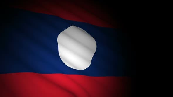 Thumbnail for Laos Flag Blowing in Wind