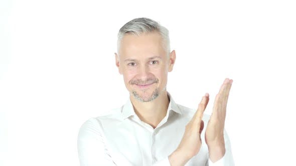 Thumbnail for Businessman Clapping , Applauding On White background
