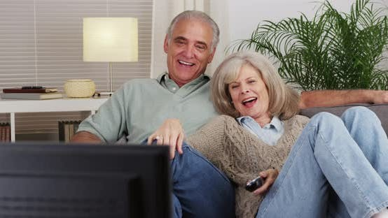 Thumbnail for Mature couple watching tv