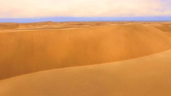 Thumbnail for Bright Orange Dunes, Ever-changing Towers of Sand, Arid Landscape of the World's Oldest Desert
