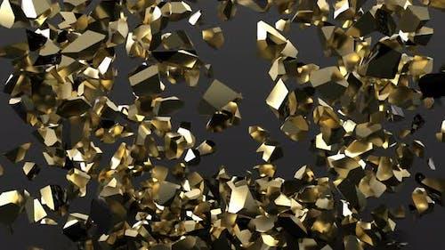 Golden Heart Explosion Slow Motion Shot 1000Fps