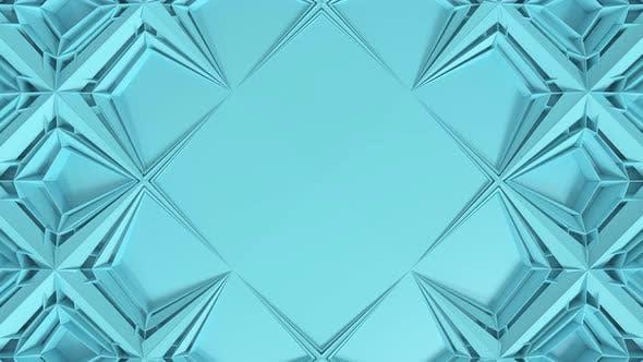 3D Abstract Geometrical Kaleidoscope Transformation