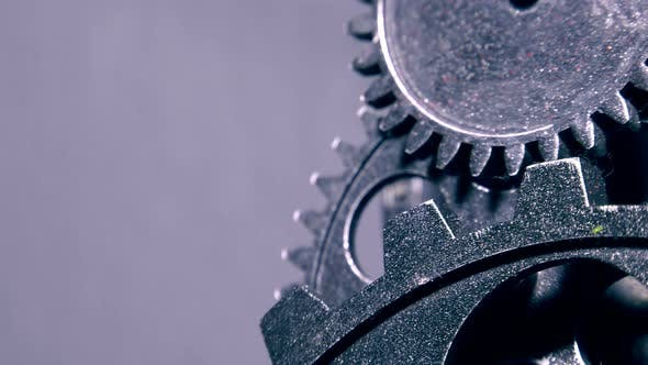 Cover Image for Abstract Grunge Industrial Clock Gears 23